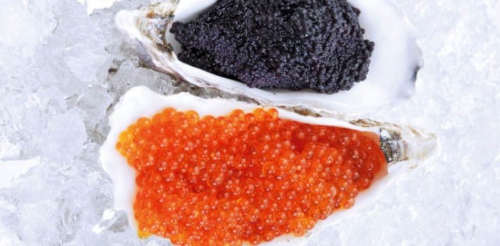 Roe and Caviar are both related in that they are both referring to fish eggs, but there are still