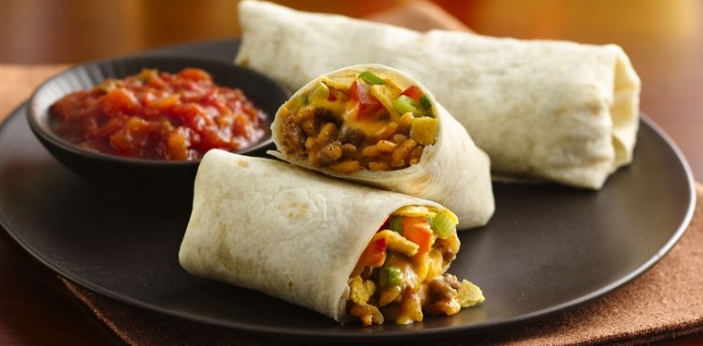One of the chief differences between tacos and burritos is that burritos are much bigger, and