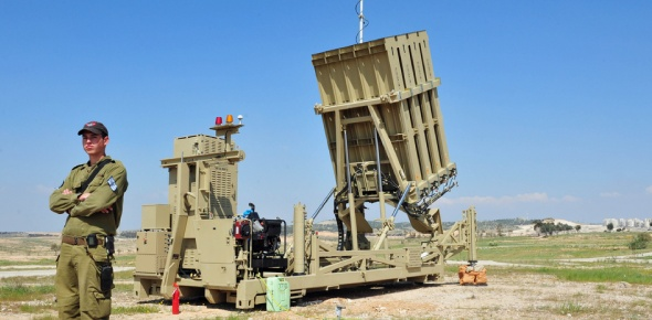 "What is the role of ""Iron Dome"" in defense of the Israeli state against Hamas?"