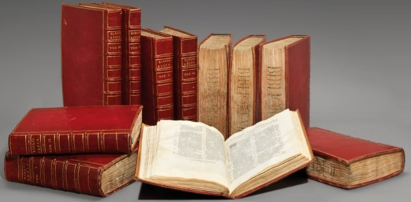 Yes, in fact there are many collections which will auction rare or historically significant books.