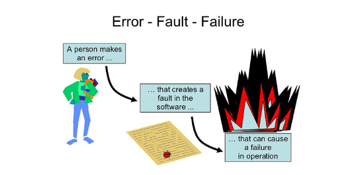 In life, everybody experiences faults and failures.