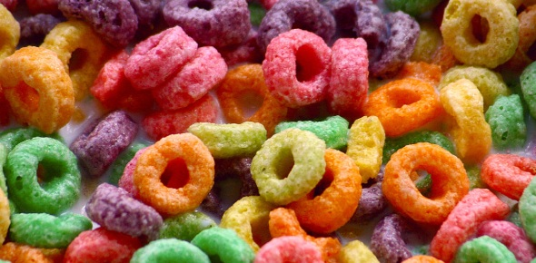 There are some people who think that fruit loops are vegan because of its name. This is one cereal