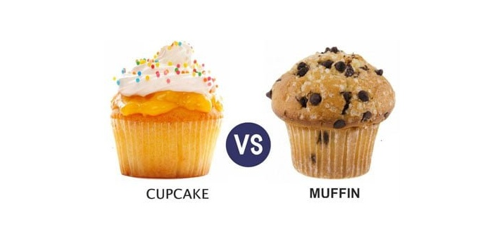 When you look at cupcakes and muffins at the same time, they may look very similar to each other.