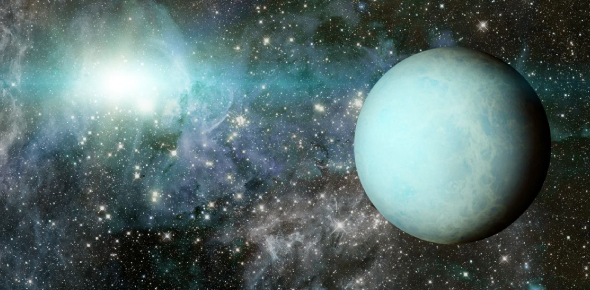 What is Uranus's surface made of?