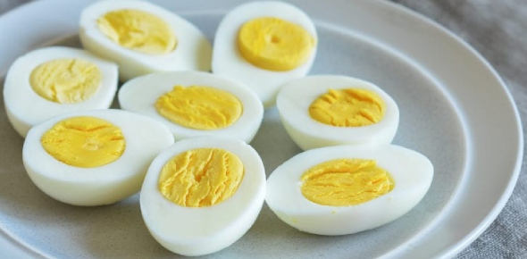 Cooking hard boiled eggs is very simple. You need raw eggs, cold water and a pot.   Steps  - Put