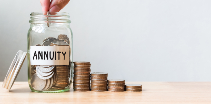 Annuity and Pension are both financial entitlements and benefits due to a person in consideration