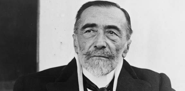 Joseph Conrad wrote this book, but it was originally published in 1899. Like many novels of the
