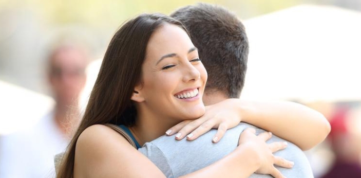 A hug and an embrace or both forms of physical contact; however, a hug usually is more casual,
