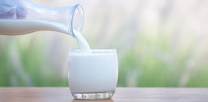 Whole milk and skimmed milk are both kinds of milk. However, whole milk contains more fat and