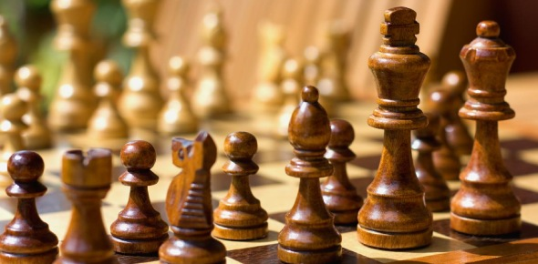 Chess is a two-player board game, which is played on a checkered board and based on strategy. The