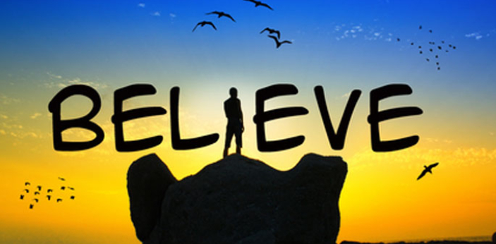 When you say belief, this means that you believe in something. This may be something that you see