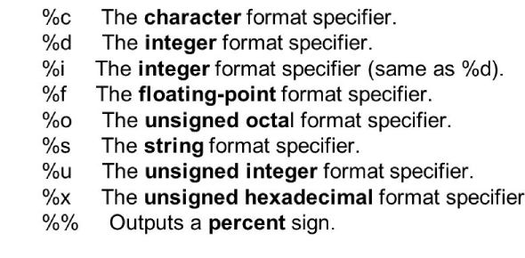 What is the difference between format specifier %i and %d