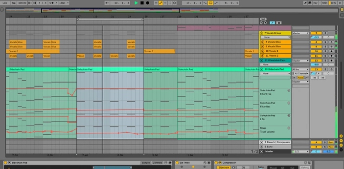 Ableton Live and Suite are both music software studios. They have a lot of features starting from