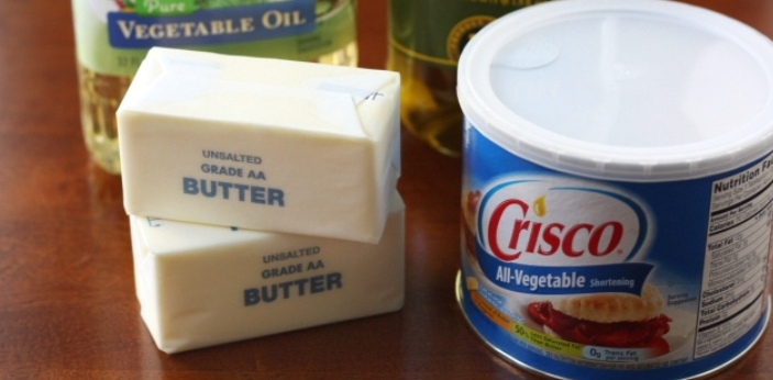 Shortening and butter are two types of fat, both are similar because they contain fat and they are