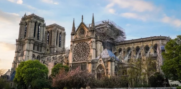 A fire broke out in Notre Dame in 2019 and the cause still isn't known but what is known is