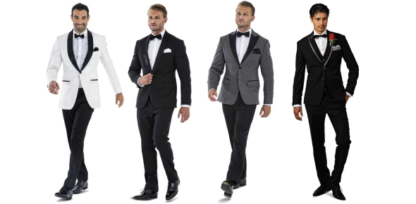 Usually men don't wear dresses. However, if a man has to dress for a wedding, then he will