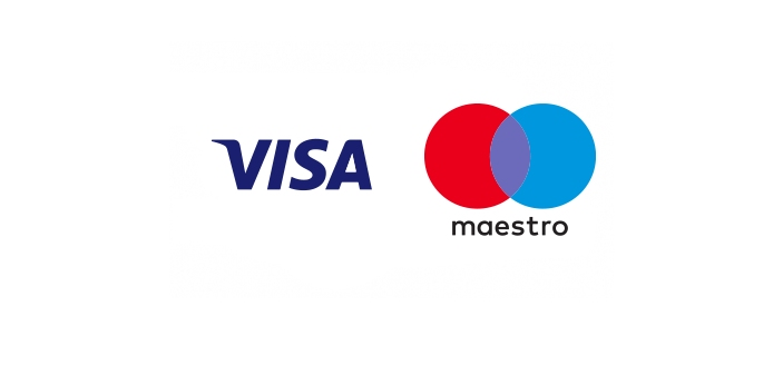 Visa and maestro are both cards that are acceptable and used throughout the whole world. These