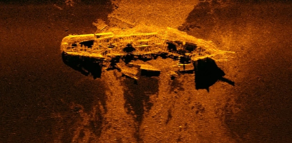 What is the deepest sunken ship that's been observed?