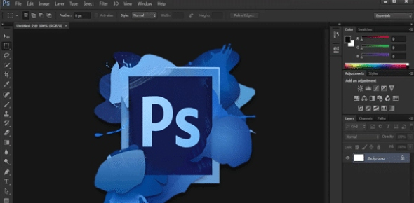 How do you create a new file in Photoshop using the drop down menu?<br/>