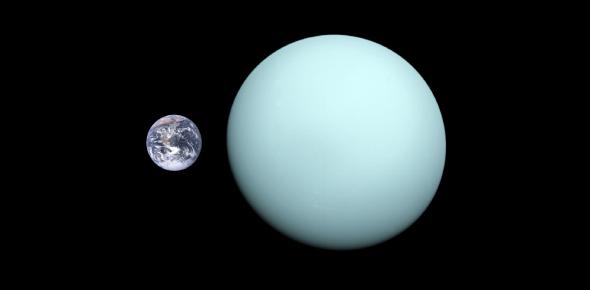 Is Uranus bigger than earth?