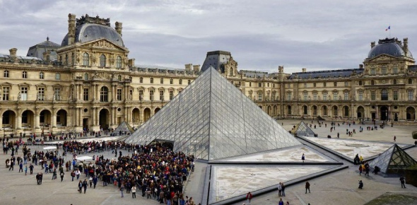 The Louvre was made way back in 1789. It served as a royal palace for over two centuries prior to