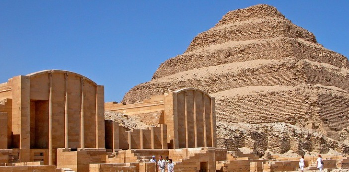 Mastaba and Pyramid can both be seen in Egypt that some people may think that they mean the same