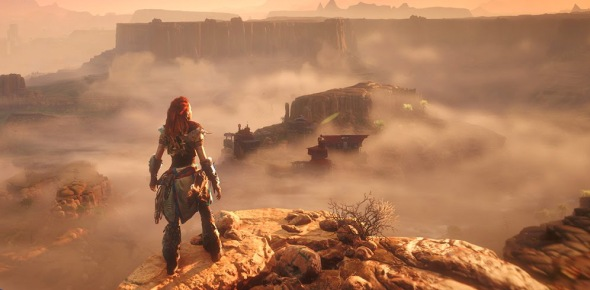 What game engine was used to program Horizon Zero Dawn?
