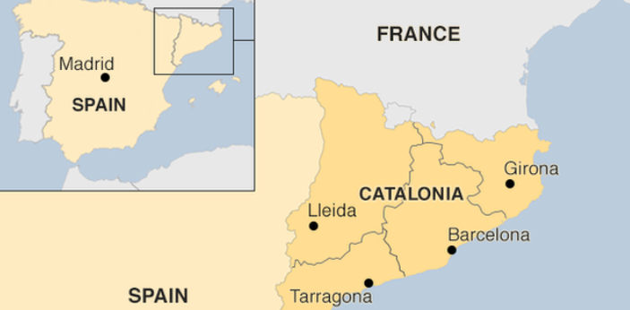 Spain has fifty provinces, and one of them is Catalonia, and the municipality of Barcelona is its