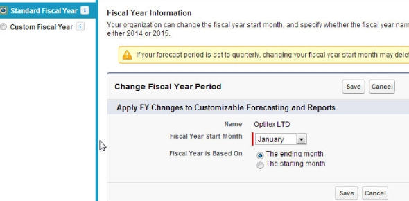 Which statement is true if a custom fiscal year is enabled?