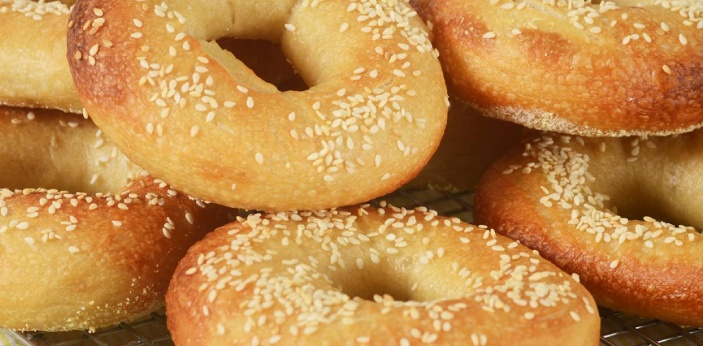 The bagel is known to be part of the grain group. The bagel is known to be very versatile because