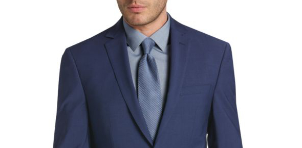 What colored tie is the most suitable on a navy blue suit?