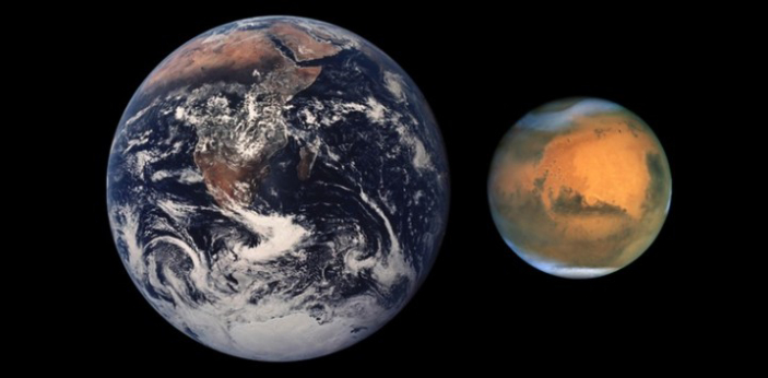 The planets Earth and Mars are both included in the Solar System yet they are very different
