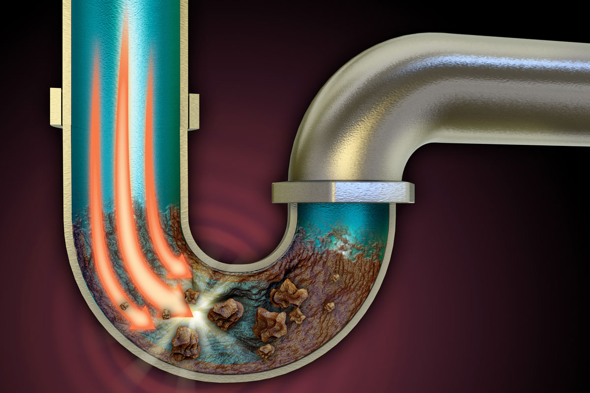 Clogged drains are the result of a foreign object (or debris) getting stuck in a drainpipe, or