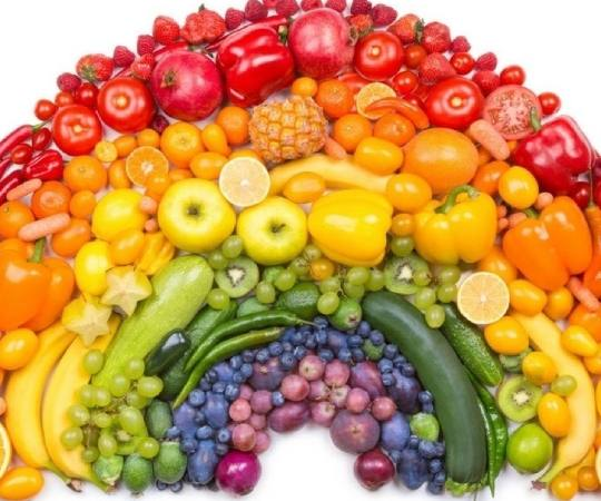 Rainbow Of Fruits And Vegetables Sliding Puzzle
